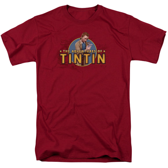 The Adventures of Tintin Looking For Clues Short Sleeve T-Shirt Adult