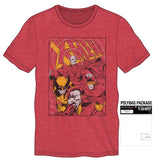 Marvel Comics X-Men Short Sleeve T-Shirt Fitted Tee Men's Red