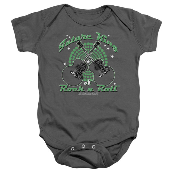 Elvis Future King of Rock N Roll Infant Snapsuit Onesie Baby Toddler Boys
