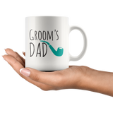 Groom's Dad White Ceramic Mug 11oz Cup Double Sided Print Father of The Groom