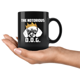 The Notorious D.O.G. Black Ceramic Mug 11oz Double Sided Print