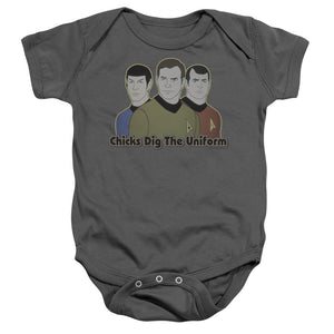 Star Trek Chicks Dig The Uniform Infant Snapsuit Onesie Baby Toddler