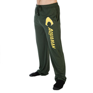 Men's Aquaman Logo Sleep Lounge Pants DC Comics Justice League Fan