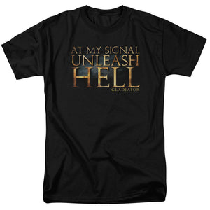 Gladiator Unleash Hell Short Sleeve T-Shirt Adult Unisex Russell Crowe