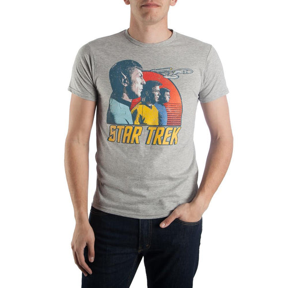 Star Trek Crew Sunset T-Shirt Specialty Super Vintage Print Unisex Spock