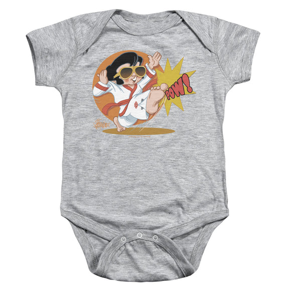Elvis Karate King Pow Infant Snapsuit One-Piece Animated Print Baby Toddler