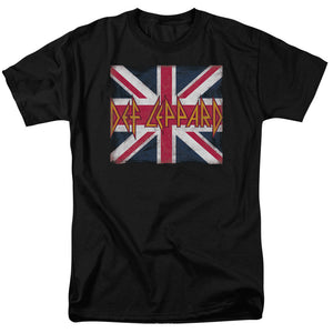 Def Leppard Union Jack Short Sleeve T-Shirt Adult Unisex Famous UK Rock Band