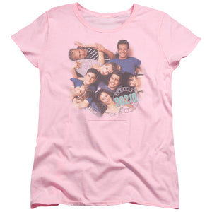 90210 Characters Short Sleeve Women's T-Shirt Beverly Hills Pink