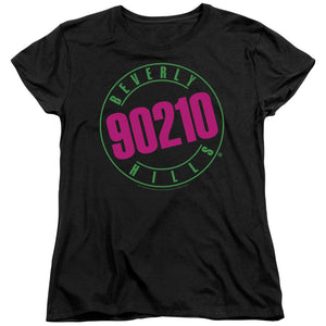 90210 Beverly Hills Neon Logo Short Sleeve Women's T-Shirt Fandom