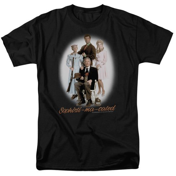 The Beverly Hillbillies Sophistimacated Short Sleeve T-Shirt Adult Unisex Black