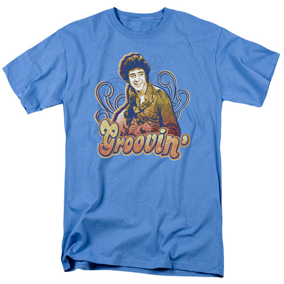Brady Bunch Groovin with Greg Short Sleeve T-Shirt Adult Unisex TV Show