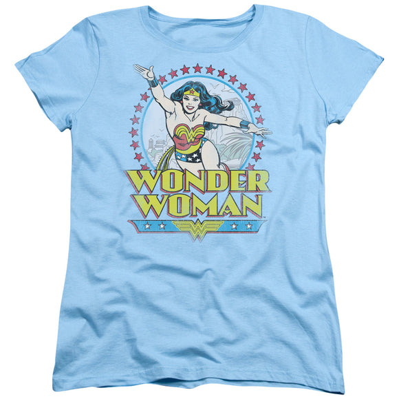 Wonder Woman Stars Short Sleeve Women's T-Shirt Superhero Fan