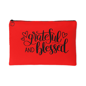 Grateful And Blessed Accessory Pouch Travel Makeup Bag Small Or Large Sizes