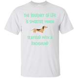 The Journey Of Life Dachshund Short Sleeve Unisex T-Shirts Cotton Men and Women