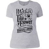 A Mother Is Like A Flower Short Sleeve Women's T-Shirt