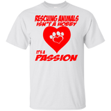 Rescuing Animals Short Sleeve T-Shirt Dogs Cotton Men and Women