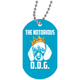 "The Notorious D.O.G. Dog Tags 30"" Silver Beaded Chain Military Inspired Unisex"