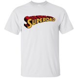 Superdad Short Sleeve T-Shirts Men Superhero Inspired Cotton Roomy Fit