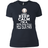 I'm A Red Sox Fan Short Sleeve Women's Boyfriend T-Shirt Boston