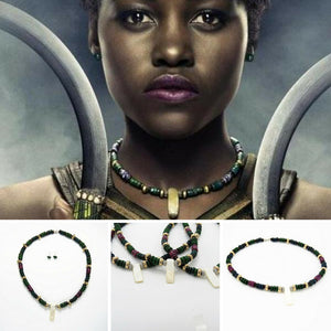 Warrior Goddess Nakia Beads Replica Necklace Black Panther T'Challa Wakanda