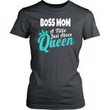 Boss Mom Short Sleeve Women's T-Shirt Bosses Cotton District Fitted Tees