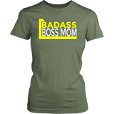 Badass Boss Mom Short Sleeve Women's T-Shirt Cotton District Multiple Colors