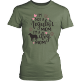 I'm A Dog Mom Short Sleeve Women's T-Shirt Cotton District Fitted Tees