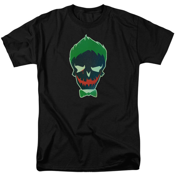 Joker Skull Short Sleeve Adult T-Shirt Suicide Squad Unisex Cotton Black