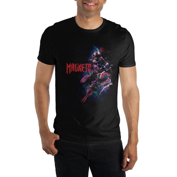Marvel Comics Magneto Men's T-Shirt Short Sleeve X-Men Fitted Black