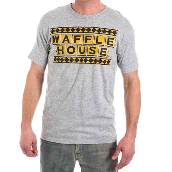 Waffle House Logo T-Shirt Popular Restaurant Custom Tee Adult Fitted