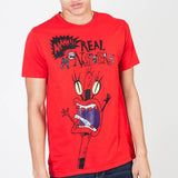 Red Aaahh!!! Real Monsters Short Sleeve T-Shirt Adult Fitted Tee