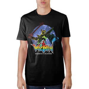Voltron Defender of The Universe Black T-Shirt Custom Tee Adult Fitted