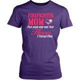 Firefighter Mom Short Sleeve Women's T-Shirt Cotton District Fitted Tees