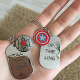 Captain America Winter Soldier Charm Necklaces Bucky Barnes Steve Rogers