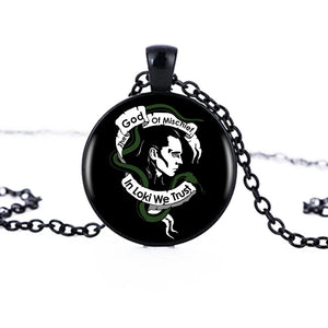 Loki God Of Mischief Pendant Necklace Handmade Resin Women Men Black