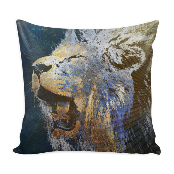 Roaring Blue Lion Pillow 16