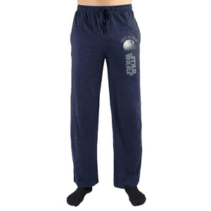 Star Wars Death Star Men's Sleep Lounge Pajama Pants Navy