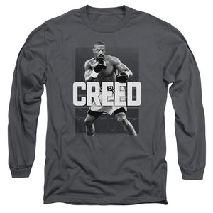 Creed Final Round Long Sleeve T-Shirt Adult Unisex Hit Movie Charcoal