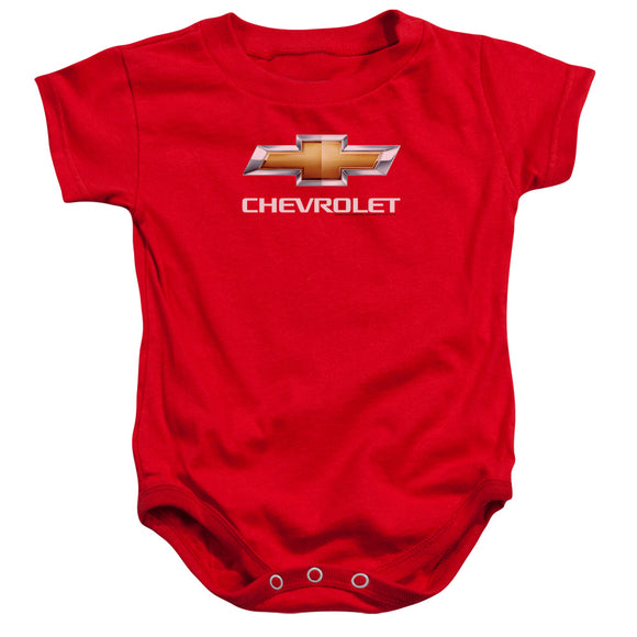Chevrolet Stacked Bowtie Logo Infant Snapsuit Onesie Baby Toddler Chevy
