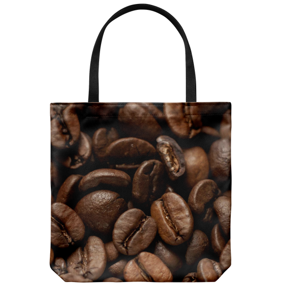 Coffee Beans Print Tote Bag Shoulder or Carry Printed On Both Sides Everyday Bags