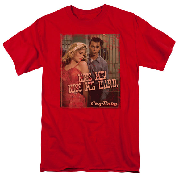 Cry-Baby Kiss Me Hard Short Sleeve T-Shirt Adult Unisex Johnny Depp
