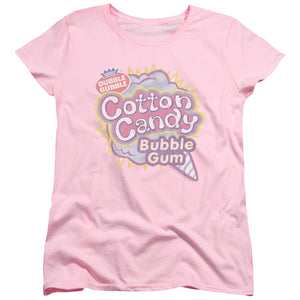 Dubble Bubble Cotton Candy Gum Short Sleeve Women's T-Shirt Pink