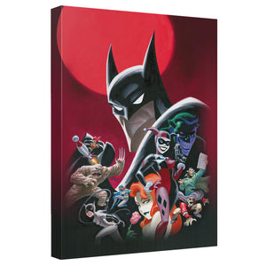 Batman Heroes and Villains Poster Canvas Wall Art Ready to Hang