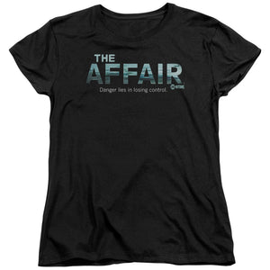 The Affair Ocean Logo Short Sleeve Women's T-Shirt Cable Series Black Tee
