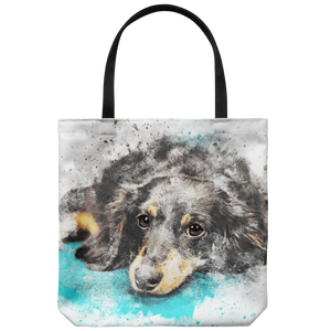 Dog Art Print Tote Bag Shoulder or Carry Printed On Both Sides Everyday Bags