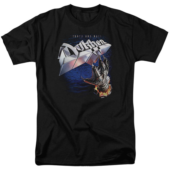 Dokken Tooth And Nail Short Sleeve T-Shirt Adult Unisex Rock Band Black