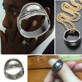 Black Panther King T'Challa Ring Wakanda Movie Superhero FREE Link Chain