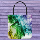 Color Smoke Design Everyday Tote Bag Shoulder or Carry Double Sided Print