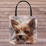 Cute Dog Portrait Tote Bag Shoulder or Carry Double Sided Print Travel Beach Bags