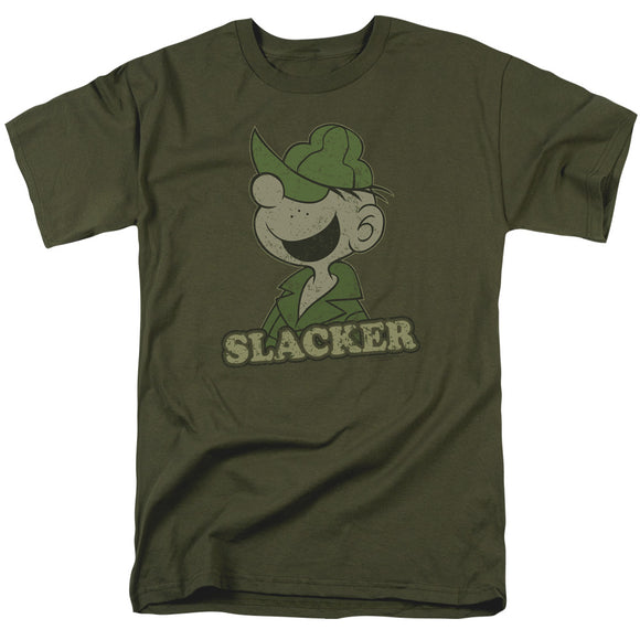 Beetle Bailey Slacker Short Sleeve T-Shirt Adult Unisex Fandom Army Green